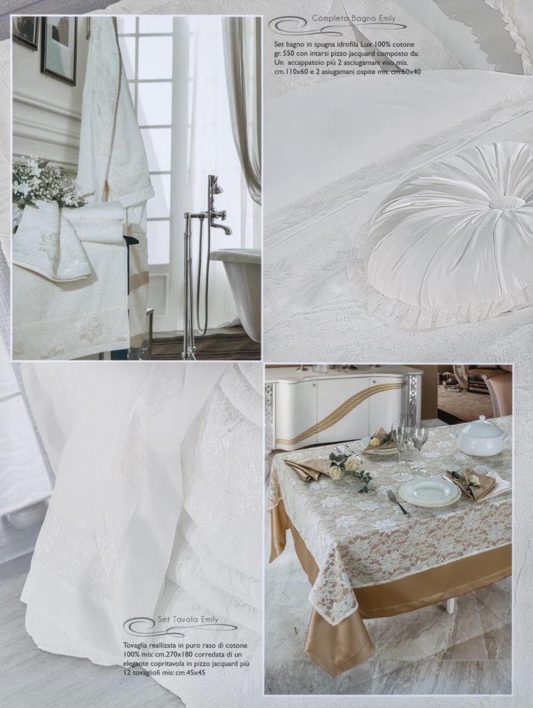 Asciugamani e Tovaglia Avorio