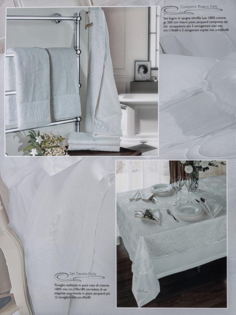 Asciugamani e Tovaglia Bianco